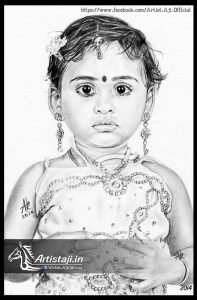 Drawings of a Baby by Artist Aji